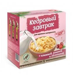Завтрак кедровый для крепкого иммунитета с клюквой, вишней и облепихой